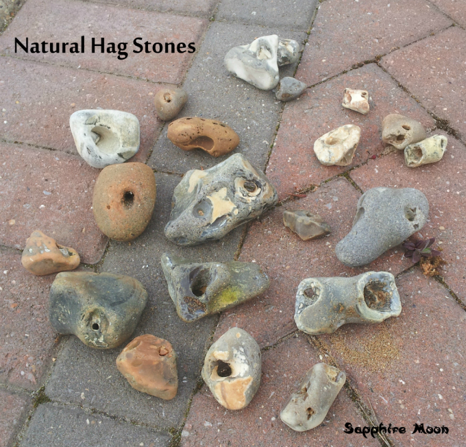 Hag Stones And Wishing Stones Sapphire Moon If you find multiple hag stones, making a hag stone cord with them is quite useful. hag stones and wishing stones